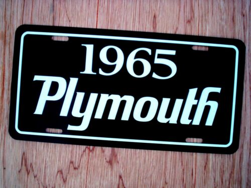 1965 Plymouth license plate tag 65 Barracuda Satellite Sport Fury Belvedere