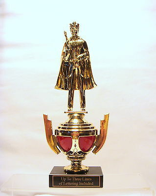 KING PAGEANT TROPHY RED CUP KING FREE LETTERING