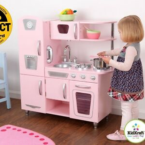 Image Is Loading Kidkraft Vintage Pretend Play Kids Wooden Kitchen Set