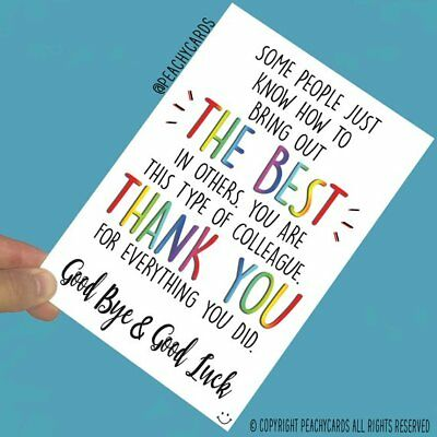 Leaving Job Greeting Cards Colleague Farewell Bye Good ...