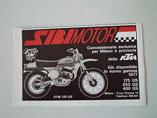 advertising Pubblicità 1977 SIBIMOTOR e MOTO KTM GS 125