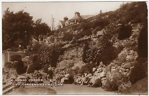 FELIXSTOWE  A Sunny Corner  CLIFF GARDENS   c1930s era Real Photo postcard - <span itemprop=availableAtOrFrom>Lincoln, United Kingdom</span> - FELIXSTOWE  A Sunny Corner  CLIFF GARDENS   c1930s era Real Photo postcard - Lincoln, United Kingdom
