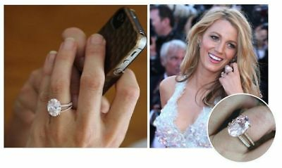 2.60Ct Oval Cut Celebrity Blake Lively Inspired Engagement Ring 10K Gold Finish