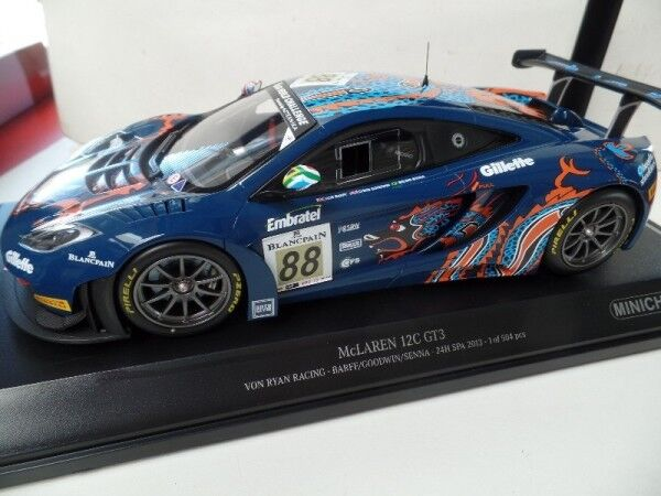 1 18 MINICHAMPS McLAREN 12 C gt3 24 H Spa 2013 Ryan Racing abominable Goodwin Senna