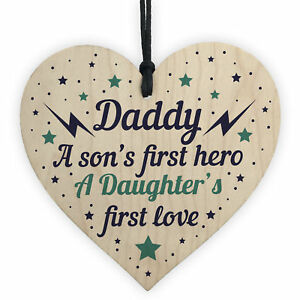 Image Is Loading Daddy Daughter Dad Son Sentimental Gift Heart Plaque