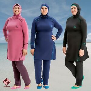AlHamra-AL8232-Modest-Burkini-Swimwear-Swimsuit-Muslim-Islamic-4-piece-UK-20-26