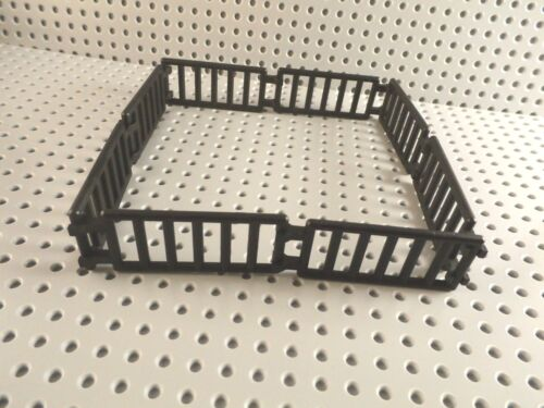 LEGO ANIMAL CORRAL PEN FENCE ~ Minifigure House Garden Farm Black Brown NEW *