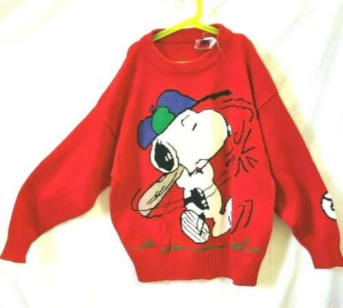 Vintage Snoopy Friends Sweater Snoopy Baseball Cha