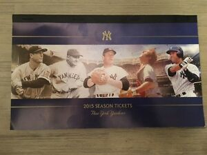 2015-Full-Season-New-York-Yankees-Ticket-Stubs-Full-Booklet-Uncut