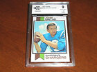 Johnny Unitas GRADED CARD!! Beckett BCCG 9 Near Mint!! 1973 Topps #455 Colts