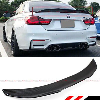 FOR 2015-2018 BMW F83 M4 CONVERTIBLE HIGH KICK CARBON FIBER TRUNK SPOILER WING