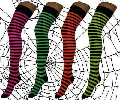 Over The Knee Ladies Stripe Design Neon Socks Verhindern, Dass Haare Vergrau Werden Und Helfen, Den Teint Zu Erhalten