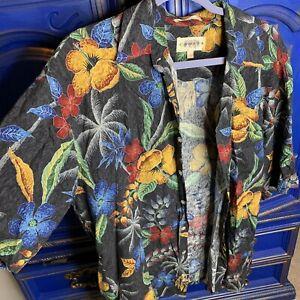 Vintage Rayon Hawaiian Surf Short Sleeve Button Up Shirt Large
