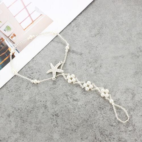 Nouveau Pieds nus Sandale Bracelet Chaîne Pied Toe Bague Beach Bracelet De Cheville pour Femme