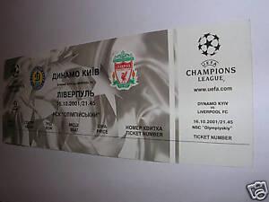 used ticket Dinamo Kiev - Liverpool 16.10.2001 perfect - Kraków, Polska - used ticket Dinamo Kiev - Liverpool 16.10.2001 perfect - Kraków, Polska
