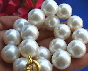 Neue-seltene-riesige-20mm-Suedsee-weisse-Muschel-Perlenkette-18-034-AAA