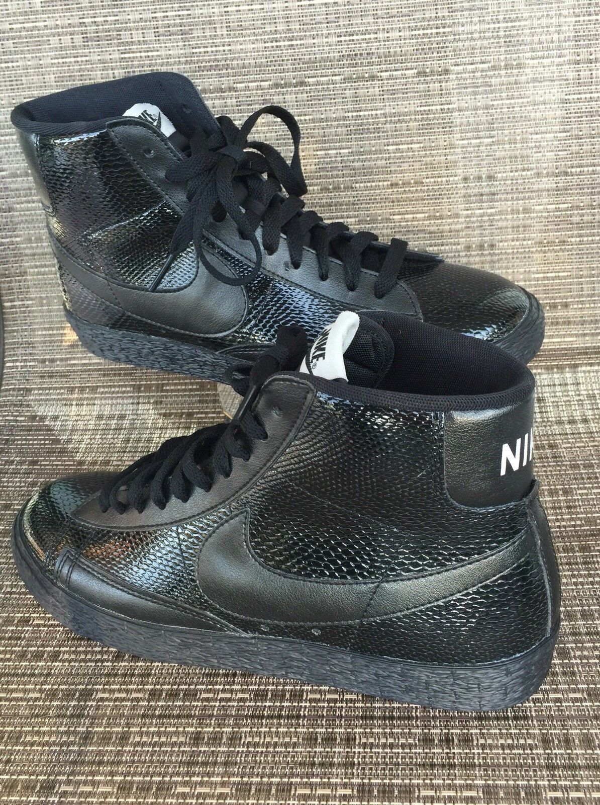 088d3df7430a ... Nike W Blazer MID MID MID Leather Premium 685225-001 Black Shoes size  US 8 ...