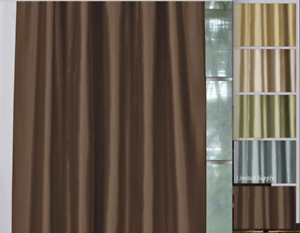 Pinch Pleat Top Lined Window Curtain Panel Treatment Drape