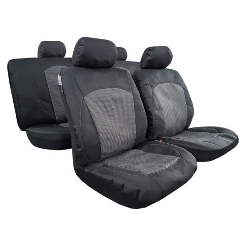 Canvas Seat Cover for Toyota Tacoma 4Runner Airbag Safe Full Set Black Grey