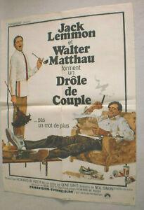 Filmplakat,Plakat,DROLE  DE COUPLE, JACK LEMMON,WALTER MATTHAU # 90
