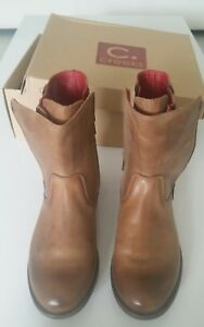 ay816 MR. WOLF chaussures marron cuir femme bottines EU 38 TwPgsOW1v5