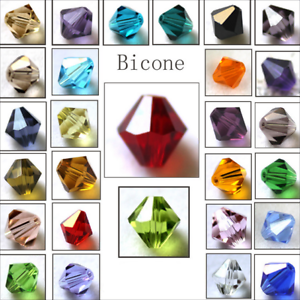 Wholesale-Crystal-Glass-Bicone-Faceted-Loose-Spacer-Beads-4mm-6mm-U-Pick