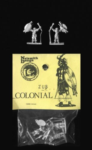 6 Naismith Design 15mm Zulu Wars 1879 ZU08 Zulu with Head Ring Brandishing Club