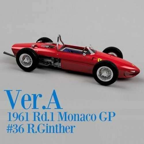 1 12 Ferrari 156 SHARK NOSE 1961 Rd.1 Monaco GP [Model Factory Hiro K642 Ver. A]