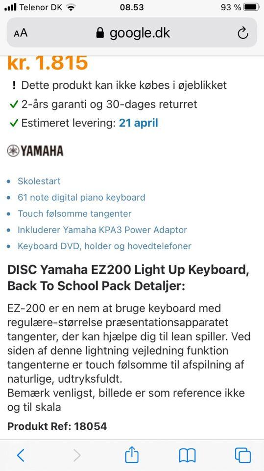 Keyboard, Yamaha EZ 200