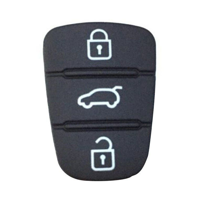 UK Black Replacement 3 Buttons Remote Key Fob Repair Switch Rubber Pad for Lexus