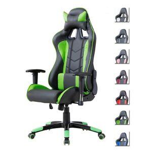 Delman Bürostuhl Racing Chair Bürosessel Chair Gaming Stuhl Grün 02