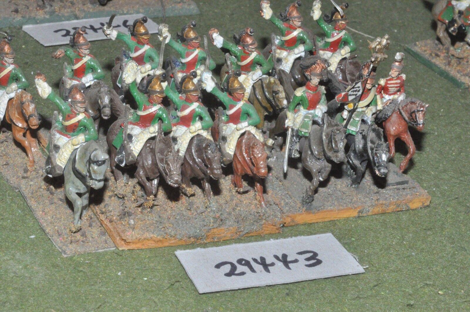 25mm napoleónicas francés-Dragones 14 figuras-CAV (29443)