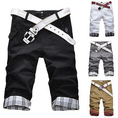 Men's Summer Casual Chino Shorts Cargo Work Combat Cotton Shorts Pants Trousers