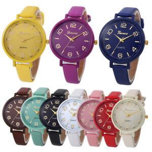 Fashion-Womens-Stainless-Steel-Watch-Leather-Analog-Quartz-Casual-Wrist-Watches