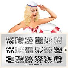 Moyou London Stamping Schablonen Meer Wasser Muscheln Sailor Collection # 04