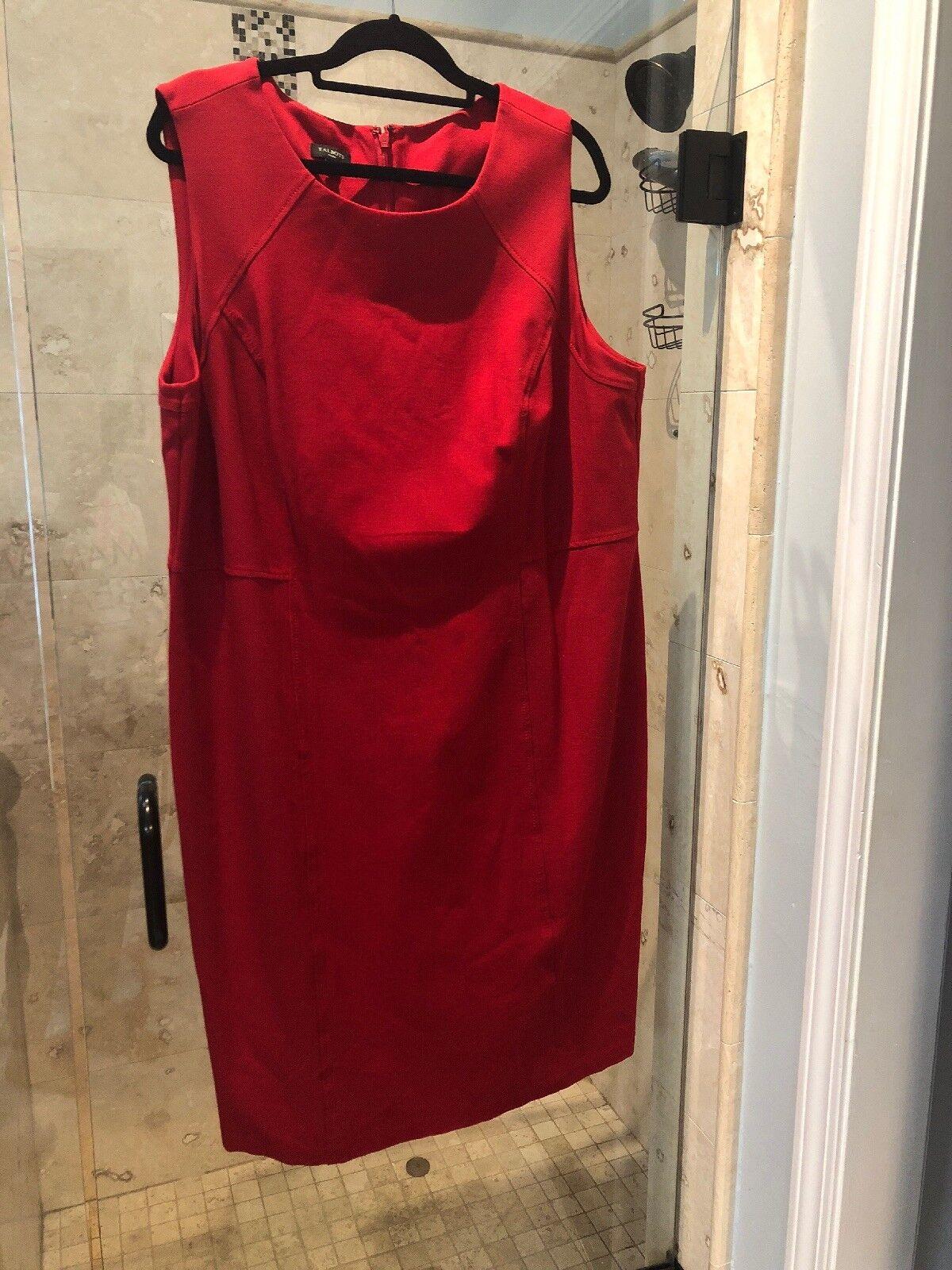 NEW Pointe Knit Talbots Pretty rot Stretch Christmas Dress 18W 2X