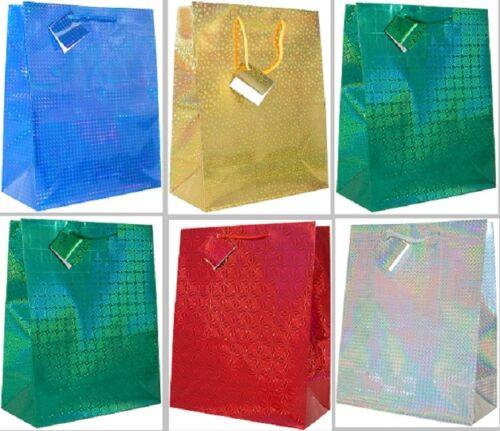 10/20 kleine Weihnachtstüten Geschenktüten Weihnachten Hologram Laser 999211 TA