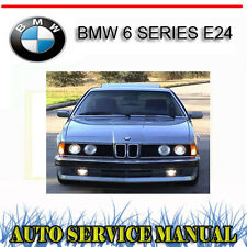 BMW E24 633 635 M6 83-89 FACTORY SERVICE REPAIR MANUAL