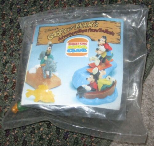 1995 Goofy and Max/'s Adventures Burger King Toy Bull Riding