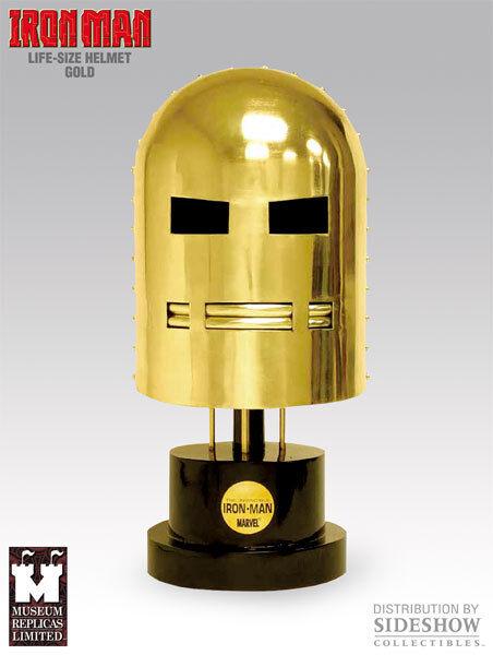 MUSEUM REPLICAS – IRON MAN – Helmet of Iron Man Man Man – Golden Edition 6db316