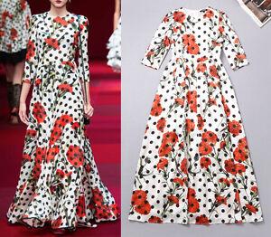 Vestito-Lungo-Donna-Fiori-Stampati-Woman-Maxi-Dress-Printed-Flowers-OBN14382