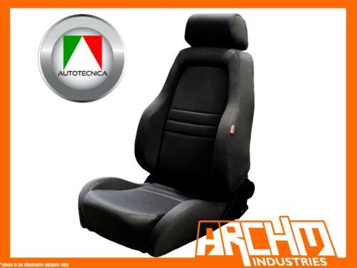 ADVENTURER 4X4 OUTBACK SEAT CLOTH BLACK AUTOTECNICA ADJUSTABLE RECLINABLE