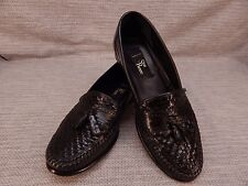 San Remo Men's Black Woven Tassel Slip-On Loafers Men's Size 8 M