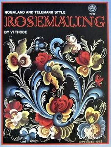 Rosemaling-Rogaland-amp-Telemark-Style-Painting-Pattern-Book-Vi-Thode-New-Retired
