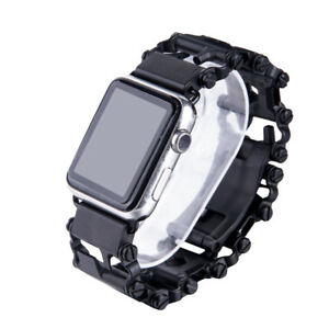 Cool-For-Apple-Watch-Stainless-Steel-Chain-watch-band-Strap-Clasp-Bracelet-GB