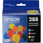 Epson DURABrite Ultra 288 (T288120-BCS) Black/Tricolor Ink Cartridges (Combo Pack)