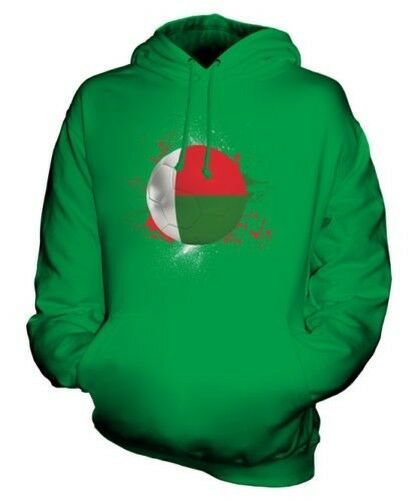 MADAGASCAR FOOTBALL UNISEX HOODIE TOP GIFT WORLD CUP SPORT