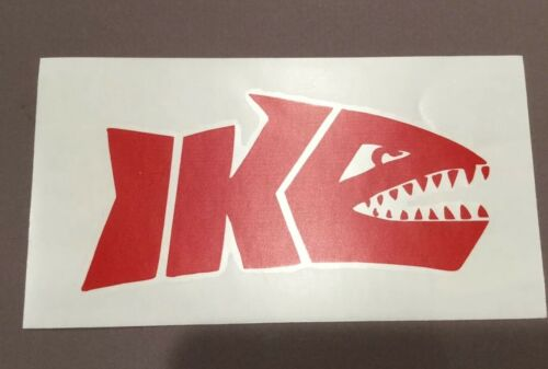 "IKE Shark Vinyl Decal 5"" Mike Iaconelli fishing"