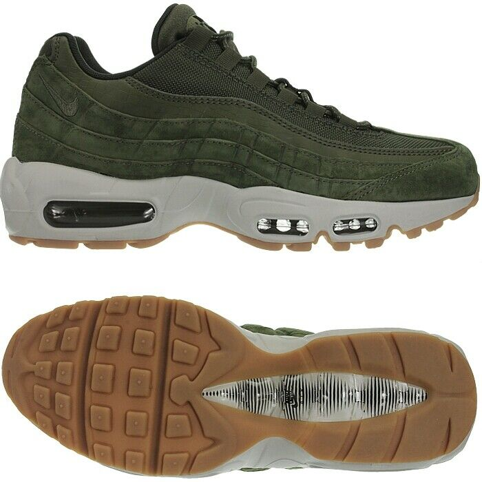 Nike Air Max 95 SE Olive Green Mens Leather Low-Top Sneakers Casual shoes New