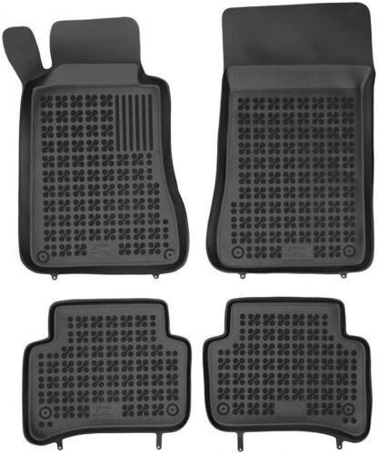 4-teilige schwarze Gummifußmatte für MERCEDES W203 C-Klasse Bj 2000-2007